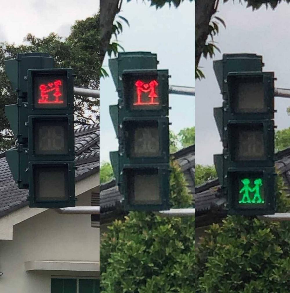 Влюбленный светофор